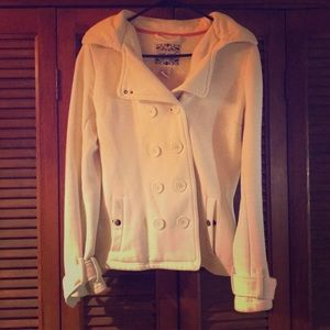 Wet Seal Cotton/Polyester White Peacoat
